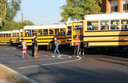 Centerville students practice bus safety drills
