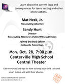 Centerville High School to host cyber safety presentation on Oct. 28