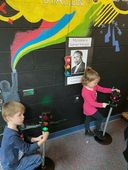 Preschool students learn about African American inventors
