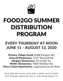 Food2Go to offer summer meal program