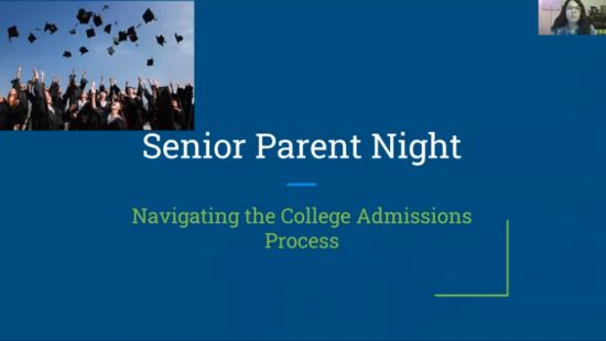 View the Senior College Planning Night Presentation