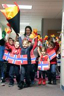 Preschool holds Olympics opening ceremonies