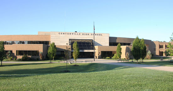 Image of exterior of Centerville High School