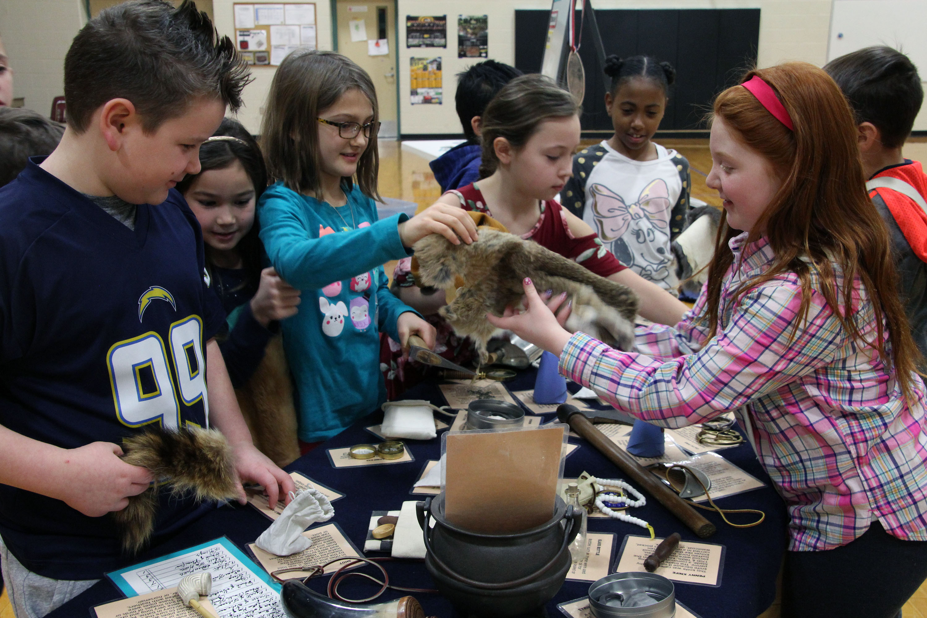 Image of students learning about Native American trade