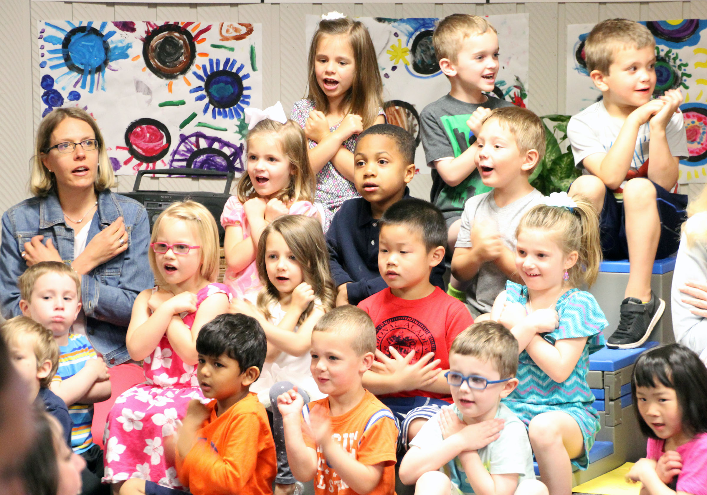 Image of preschoolers singing
