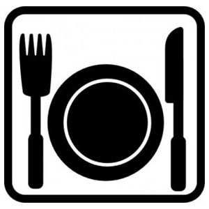 Image of Plate and Silverware graphic
